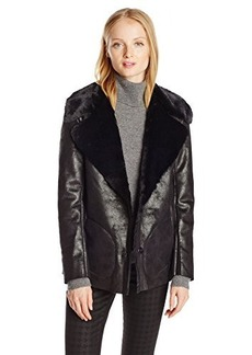 French Connection Women's Winter Rhonda Faux Shearling Jacket