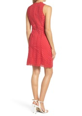 French Connection Zahara Eyelet & Lace A-Line Dress