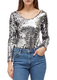 French Connection Zena Sequin Top
