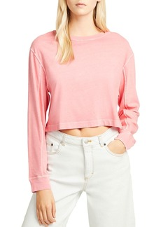 FRENCH CONNECTION Zinia Cropped Long-Sleeve Jersey Tee