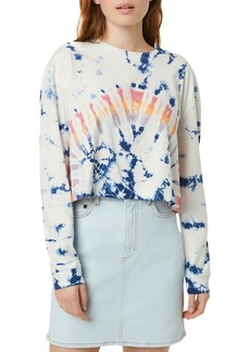 FRENCH CONNECTION Zinnia Cropped Tie-Dyed Long-Sleeve Tee