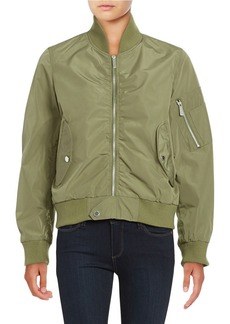 FRENCH CONNECTION Zip-Front Bomber Jacket