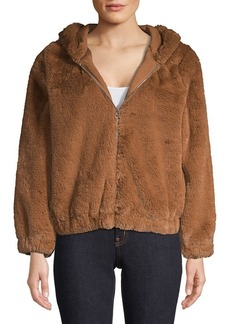 French Connection Zip-Front Faux Shearling Jacket