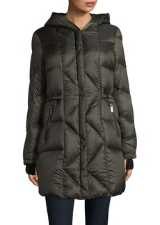 French Connection Zip-Front Puffer Walker Coat