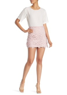 French Connection Fulaga Floral Crochet Lace Skirt