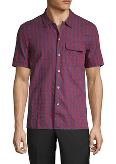 French Connection Gingham Slim-Fit Button-Down Shirt