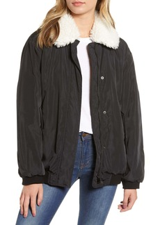 French Connection Githa Faux Fur Lined Jacket