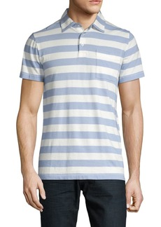 French Connection Harbor Striped Cotton Polo