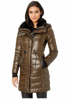 French Connection Hooded Faux Fur Collar w/ Bib