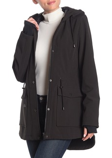 French Connection Hooded High/Low Hem Coat