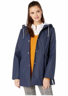 French Connection Hooded Slicker w/ Side Zip Hem