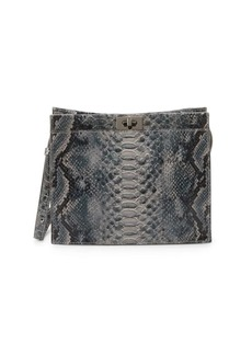 French Connection Iman Embossed Snakeskin Print Crossbody Bag