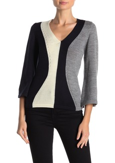 French Connection Issy Wool Blend Colorblock Sweater