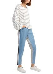 French Connection Jogger Denim Sport Stripe Jeans