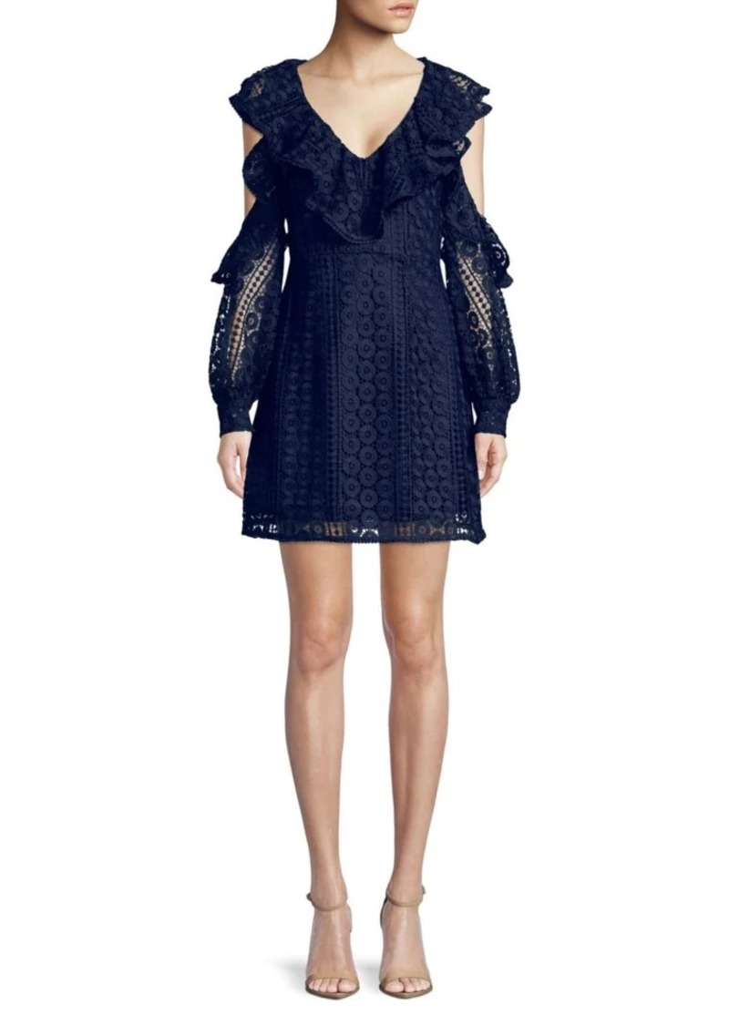 French Connection Lace Ruffle Dress