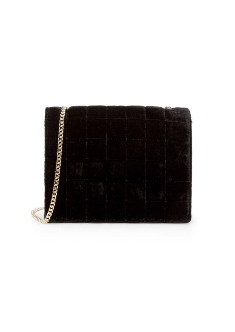 French Connection Laine Velvet Crossbody Bag