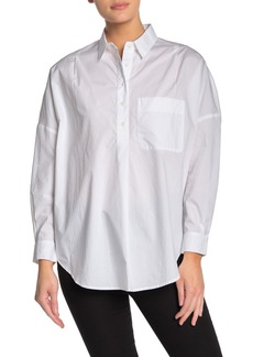French Connection Laselle Poplin Popover Shirt
