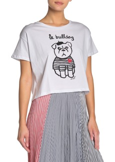 French Connection Le Bulldog Heart Short Sleeve Tee