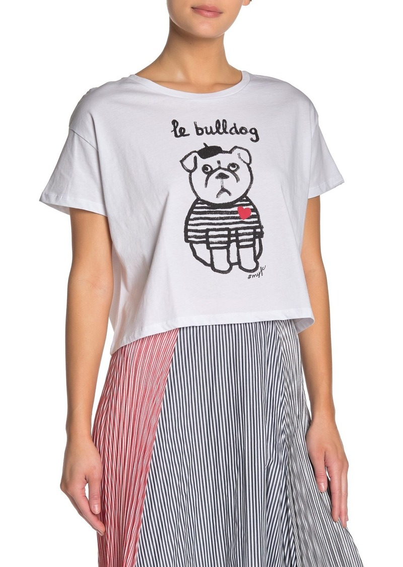 French Connection Le Bulldog Heart Short Sleeve Tee