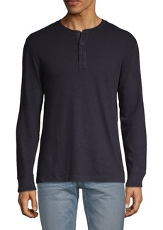 French Connection Long-Sleeve Cotton Henley