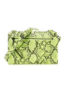 French Connection Lucy Neon Snakeskin Embossed Crossbody Wallet