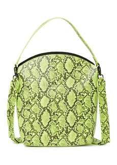 French Connection Lucy Snakeskin Embossed Bucket Crossbody Bag