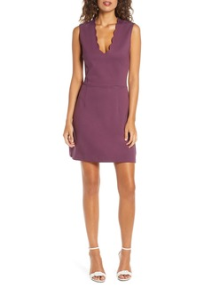 French Connection Lula Sundae Scalloped Sheath Dress