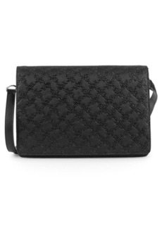 French Connection Marin Logo Embossed Messenger Bag