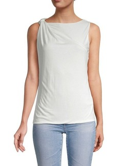 French Connection Mati Draped Jersey Top