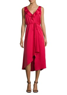 French Connection Maudie Drape Midi Dress