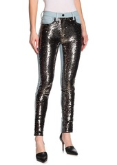 French Connection May Sequined Skinny Jeans