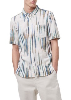 Men's French Connection Handloom Dobby Short Sleeve Button-Up Shirt