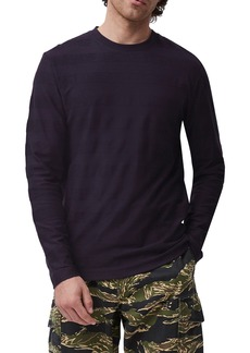 Men's French Connection Textured Stripe Long Sleeve T-Shirt