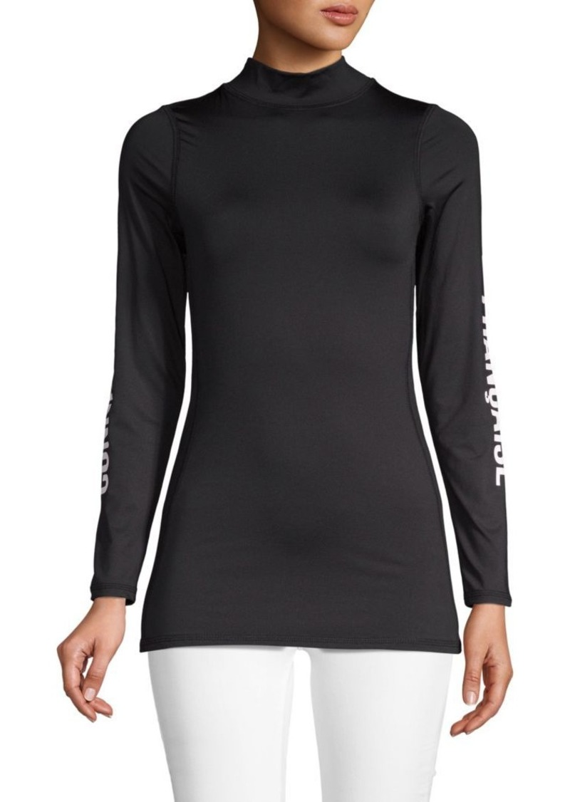 French Connection Mockneck Stretch Top