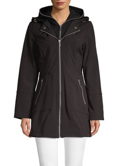 French Connection Moto Twofer Soft-Shell Coat