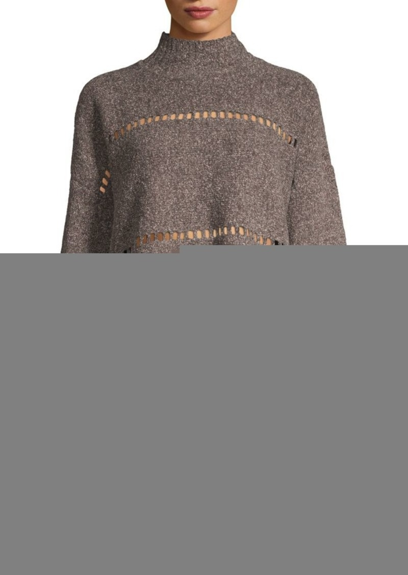 French Connection Mozart Ladder Trim Sweater