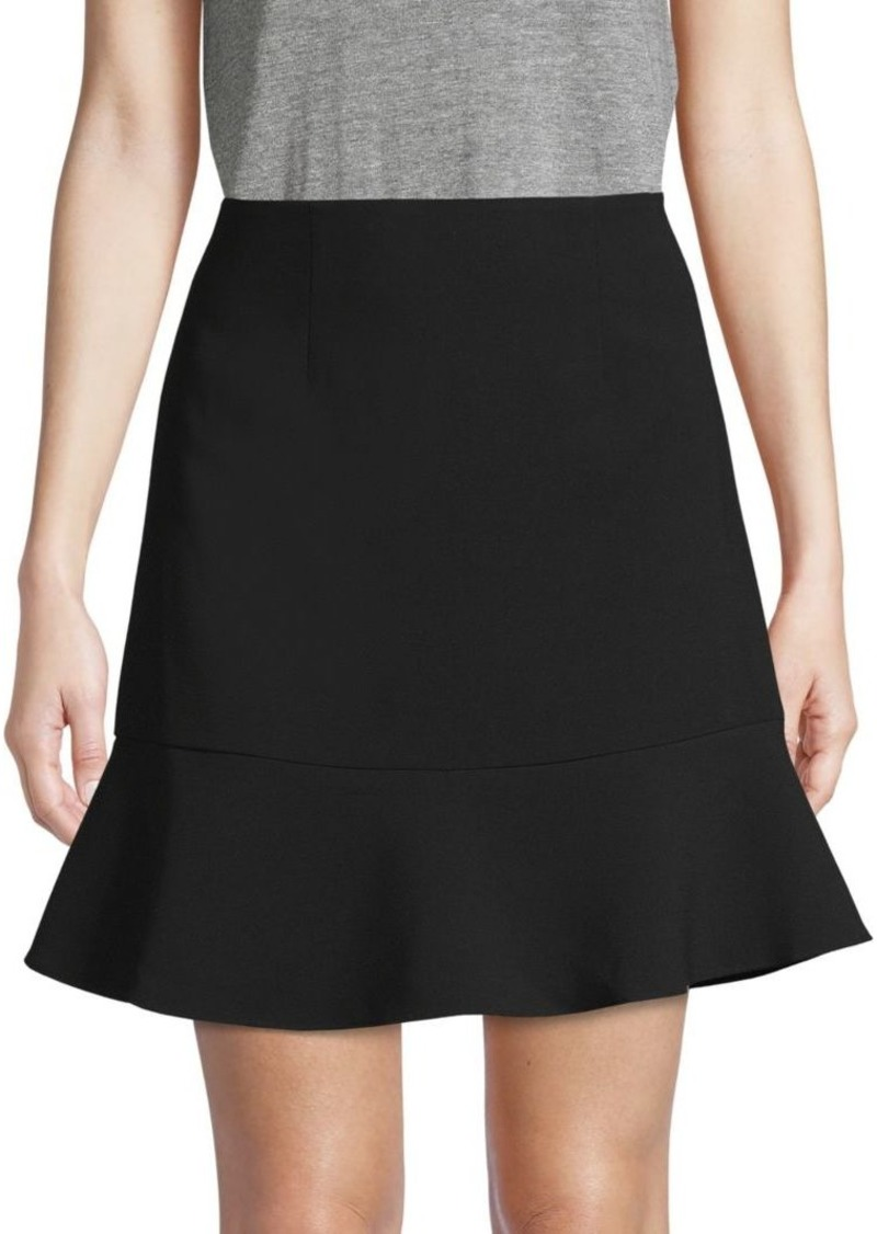 French Connection No-Waistband Flare Skirt