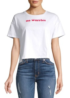 French Connection No Worries Cotton Cropped Top