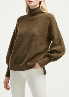 French Connection Orla Flossy Balloon Sleeve High/Low Sweater