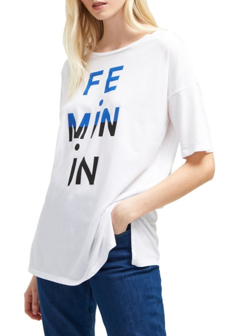 French Connection Oversize Graphic Tee