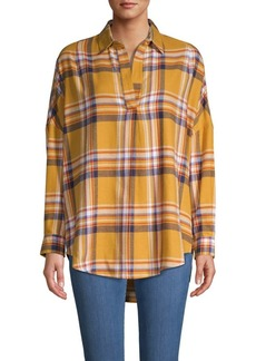 French Connection Plaid Cotton-Blend Shirt