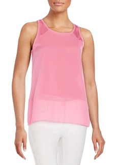 French Connection Polly Plains Raw-Edge Tank Top