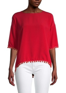 French Connection Pom-Pom High-Low Top
