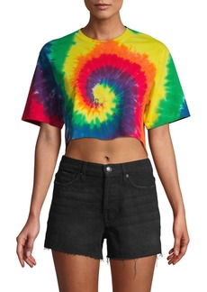 French Connection Pride Tie-Dye Crop Top