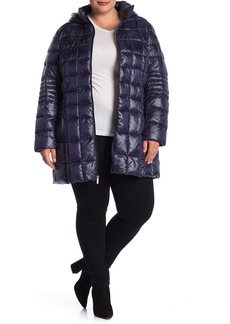 French Connection Quilted Hooded Jacket (Plus Size)