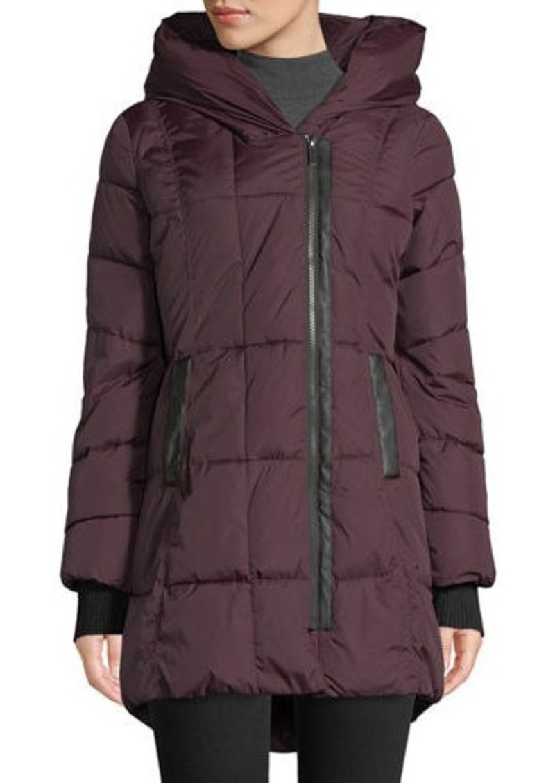 ed9507d3b French Connection Quilted Hooded Zip-Up Puffer Coat Now $76.00