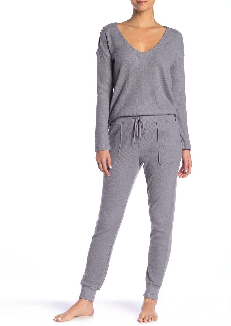 French Connection Ribbed Knit Pajama Joggers