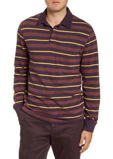 French Connection Rugby Stripe Long Sleeve Pocket Polo UPC