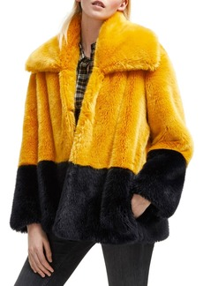 French Connection Sebille Faux Fur Jacket