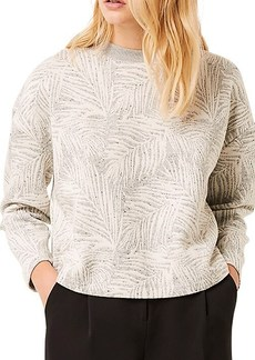 French Connection Sekia Palm-Print Jersey Top